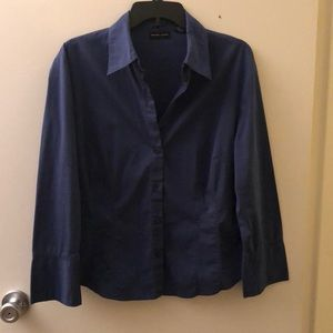 New York & Company Stretch Button Down Top Size XL